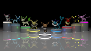 Blender Eeveelutions by alewism