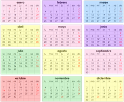 Calendario Para Tutorial by JennyFerciiTha