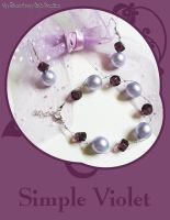 Jewelry Set - Simple Violet by SCCreations