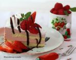 Strawberry and Raspberry Mousse Cake by theresahelmer