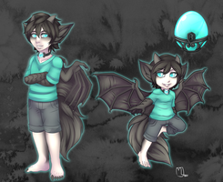Glowing egg (Teal) by Little-Noko