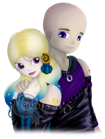Human MoonMirror and CrescentCleft by kittyocean