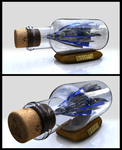 ship in a bottle by Hucklemary
