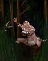 Nidalee the Beastial Huntress by Rouknette