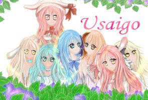 Commish: Usaigo Family by jan-scolors