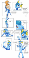 Vaporeon costume TF by Zohaku