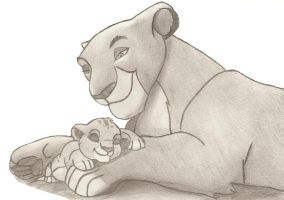 Sarabi and Simba by lordsnoopy