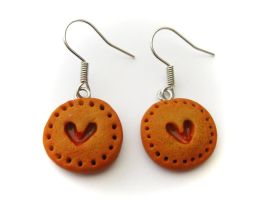 Lovely Cookie Earrings by PumpkinDream