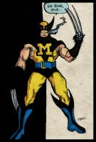 Go Blue Bub: Wolverine by finkgraphics