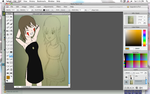 Commishie-Aika and Saki-WIP 2 by Lympia-Chan