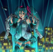 Miku's stage is a city by AlloyRabbit