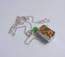 chips peas and gravy necklace by NeatEats by rhonda4066