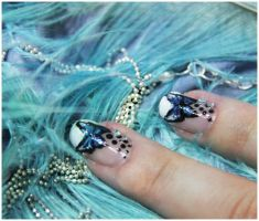 Butterfly nails by Ceryse