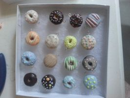 Assorted Miniature Donut Charms by dreamylittlethings