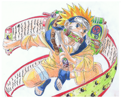 Naruto with scroll by ConkerTSquirrel