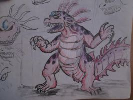 More and more Axoloc sketch by Mexicankaiju