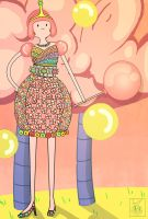 Bubblegum's Candy Dress by lavi-n