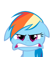 Rainbow Dash Angry Face by MIeLZSimmonS