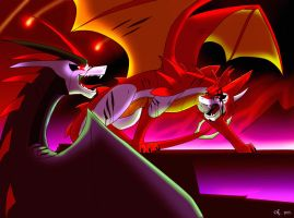 Duel of Knockout and Starscream by Yula568