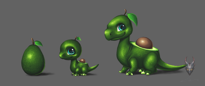 DML design - Avocado dragon by Poci16
