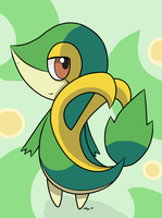 AT: A cool looking Snivy by FlameTheFlareon