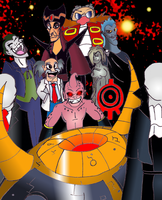 The Mega Crossover of Awesome Villains Cover by warahi