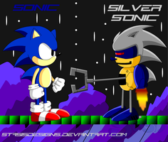 Sonic VS Silver Sonic by StasisDesigns