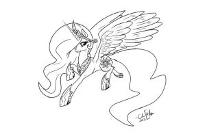 Celestia lineart by ChrisHolm