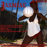 Jasmine beach volleyball profile by ChrisFClarke