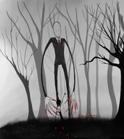 Jeff the Killer meets Slenderman by Radiomankka