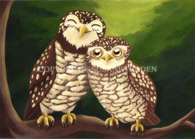 Cheerful Owls by SusanWhidden