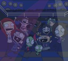 invader con dance party by Sapphire4723
