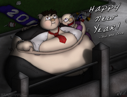 Piggy New Year - 2011 by The-Fat-Red-Dragon