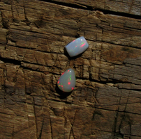 Pear and Rectangle Opal Cabs by KubusRubus