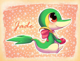 Jade the Snivy by OrcaCookie