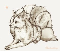 Ninetails by PokeShoppe