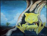 peace and abra by JozJaeger