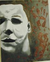 Michael Myers Halloween Oil painting by AmandaPainter87
