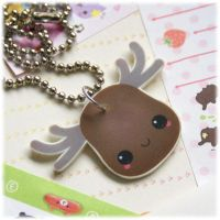 CUSTOM ORDER: Moose Necklace by Keito-San