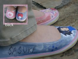 sasusaku shoes by pinkbutterflyofdeath