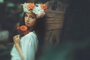 girl with flower by theborn17wing