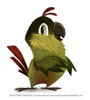 DAY 351. Conure by Cryptid-Creations