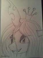 Chrysalis, but in pencil! by fiendaffliction