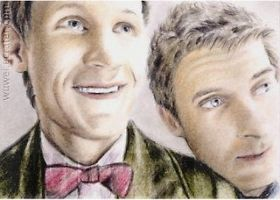 Doctor Who sketchcard by whu-wei