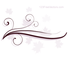 Abstract Swirl Floral Vector Background by 123freevectors