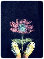 Flower and Converse by Lexxen