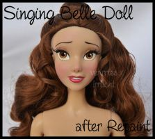 repainted ooak singing belle doll. by verirrtesIrrlicht