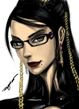 Bayonetta's Colored Portait by ChuJellieh