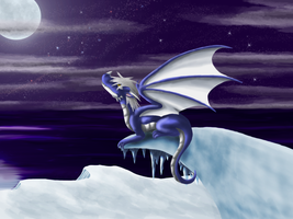 Commission: Darktimcampy the snow dragon by irajiack