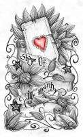 Ace of heart quarter sleeve by JOVictory